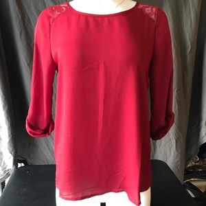 Papermoon red blouse